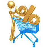 Shopping Cart Percentage — Foto Stock