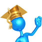 Graduate Waving — Stock Photo