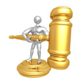 Big Gavel — Stock Photo
