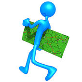 Carrying A Map — Stock Photo