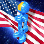 Guy Astronaut background — Stock Photo