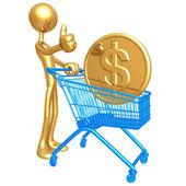 Shopping Cart coin — Stock Photo