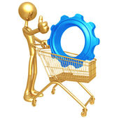 Shopping Cart Widget — Stock Photo
