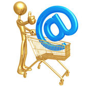 Shopping Cart Email — Stock Photo