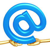 Shared Email Symbol — Stock Photo