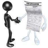 Loan Application Handshake — Stock Photo