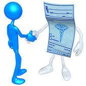 Medical Prescription Handshake — Stock Photo