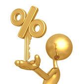 Pourcentage d'or clé — Photo