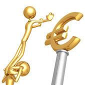 Arbetar tillsammans för guld euro — Stockfoto