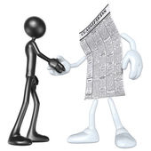 Employment Classifieds Handshake — Stock Photo