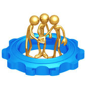 Teamwork Gear — Stock Photo