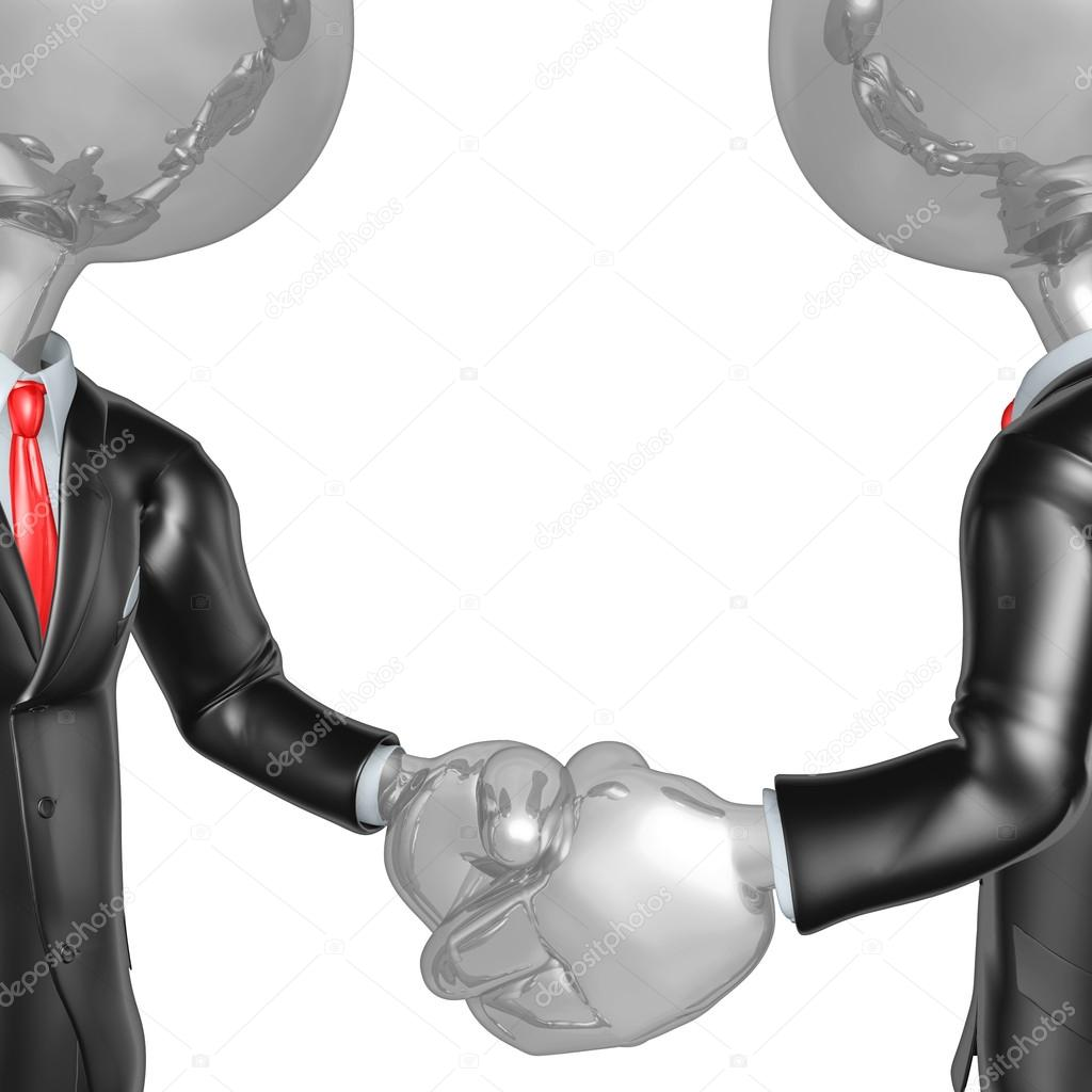 3D Businessmen Shaking Hands — Stock Photo #12350130