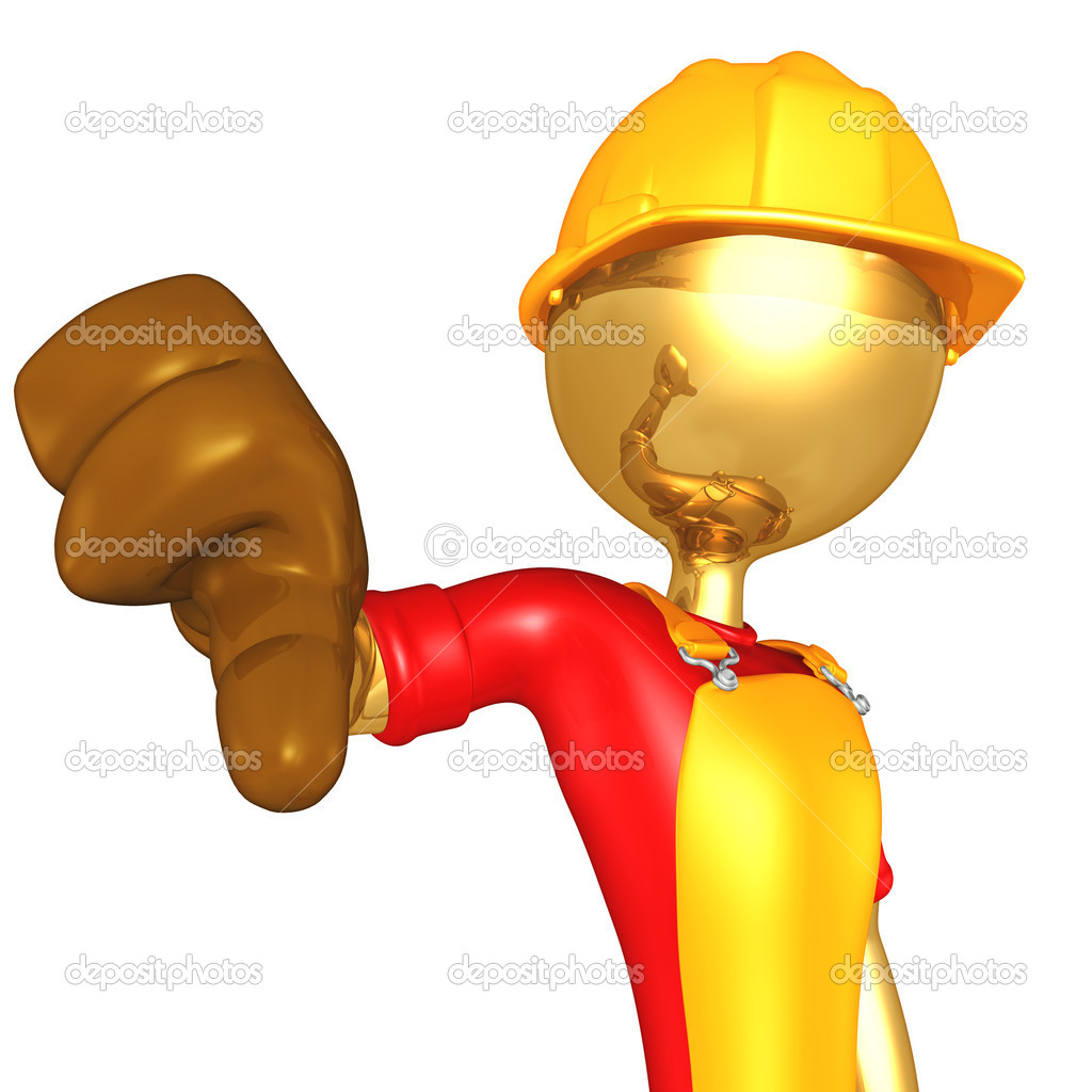 3D Construction Worker — Stock Photo #12351100
