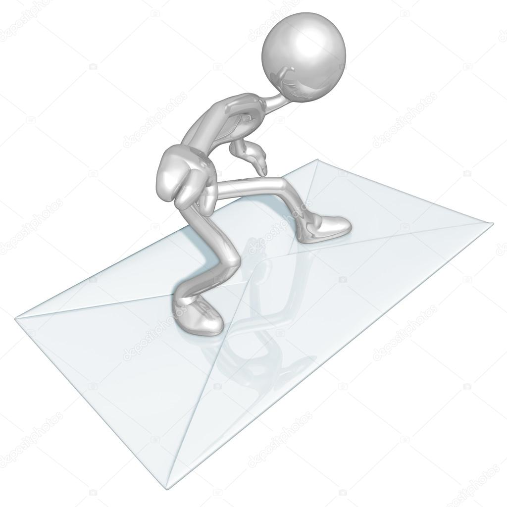Mail Email Surfing — Stock Photo #12358128