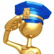 Stock Photo: Golden Police Officer Salute