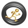 Tire Runner — Stockfoto #12367317