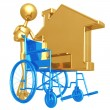 Stock Photo: Wheelchair Housing