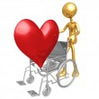 Heart Health Wheelchair — Stock Photo #12367389