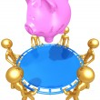 Safety Net Catching A Piggy Bank — Stock Photo