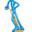 Jumping On A Pogo Stick — Stock Photo #12369356
