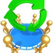 Safety Net Catching Recycle Symbol — Stock Photo #12369392