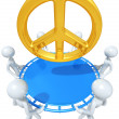 Safety Net Catching Peace Symbol — Stock Photo #12369405