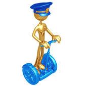 Or policier sur le scooter électrique — Photo