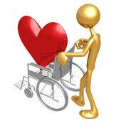 Heart Health Wheelchair — Stock Photo