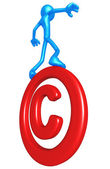 Balancing On Copyright Symbol — Stock Photo