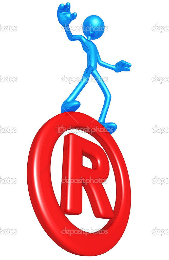 Balancing On Registered Symbol — Stock Photo #12369585