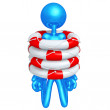 Trapped In Life Preservers — Stock Photo