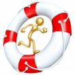 Lifebuoy Runner — Stock Photo #12370222