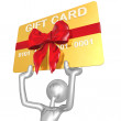 3D Character With Gift Card — Stock Photo #12370720