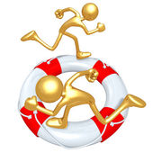 Life Preserver Runners — Stock Photo
