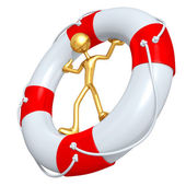 In Life Preserver — Stock Photo