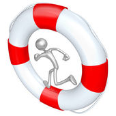 Lifebuoy Runner — Stock Photo