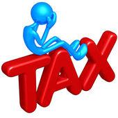 税收的概念 — 图库照片