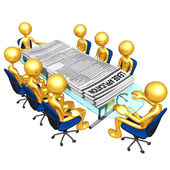 Dzierżawa aplikacji spotkanie — Zdjęcie stockowe
