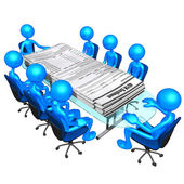 Toplantı 401k formları — Stok fotoğraf
