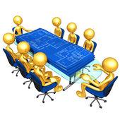 Planos de construcción de viviendas de reuniones — Foto de Stock
