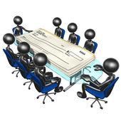 Blank Checks Meeting — Stock Photo