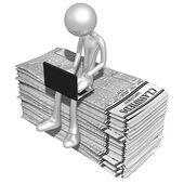 Online con annunci di lavoro — Foto Stock