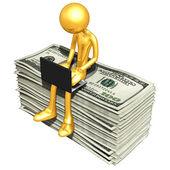 Online With Money — Stock Photo