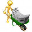 Wheelbarrow Full Of Employment Classifieds — Stock Photo