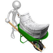 Wheelbarrow Full Of Tax Forms — Stock Photo