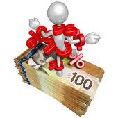 Prozentsatz Problem auf Geld — Stockfoto