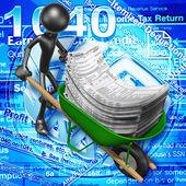 Belastingen concept — Stockfoto