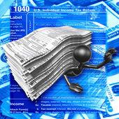 Vergi formları — Stok fotoğraf