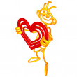 doodle guyz valentine heart — Stock Photo