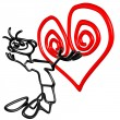 Royalty-Free Stock Photo: Doodle Guyz Valentine Heart